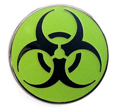 Amazon Pinsanity Biohazard Symbol Lapel Pin Everything Else