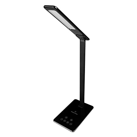 MACASA Led Desk Lamp Dimmable Table Lamp with Qi Wireless
