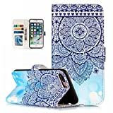 iPhone 8 Plus Case,iPhone 7 Plus Case, Dooge Cameo Design [Kickstand Feature] Premium PU Leather Flip Wallet Case with ID&Credit Card Pockets Cash Clip, Magnetic Closure for iPhone 7 Plus/8 Plus