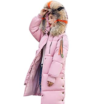 Oyedens Damen Winter Mantel Steppmantel Moonshine Damen Jacke Lange Dicke  Warme Daunenjacke Parka Mäntel Winterjacke Daunenmantel Lange Reißverschluss  mit ... fb8a153ece