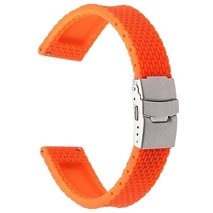Amazon.com: TRUMiRR 24mm Quick Release Silicone Rubber Watch ...