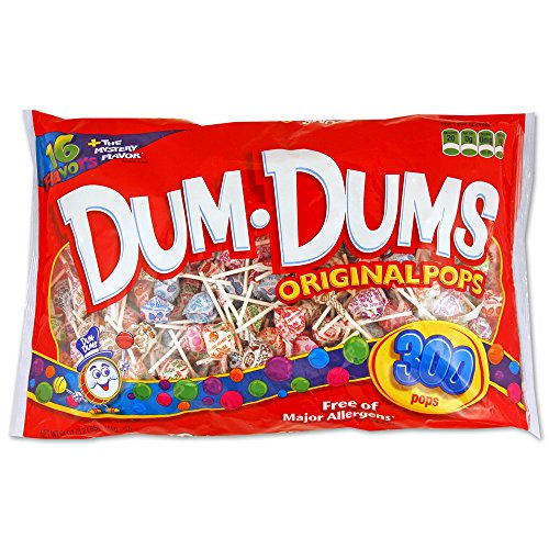 DUM DUMS Lollipops, 300 Count Bag (Peanut Free compare prices)