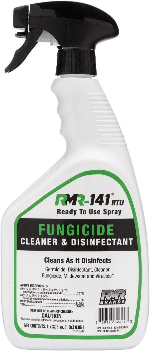 RMR-141 RTU Mold Killer, Cleaner to Kill Mold, Inhibits The Growth of Mold and Mildew, Disinfectant and Cleaner, Kills 99% of Household Bacteria and Viruses, EPA-Registered Product, 32-Ounce Bottle