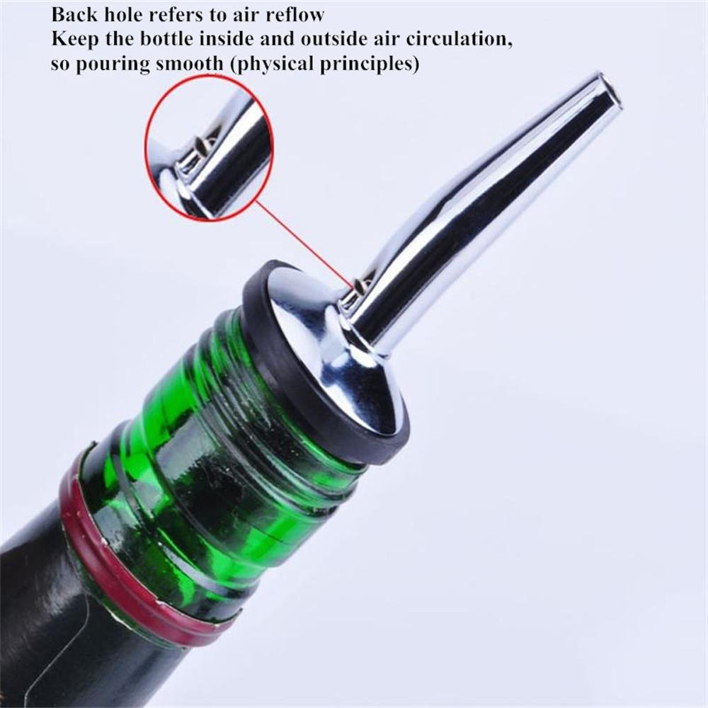FTXJ Stainless Steel Cap Liquor Spirit Pourer Cocktail Wine Stopper (B) by FTXJ (Image #4)