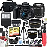 Beach Camera Canon T7i EOS Rebel DSLR Camera with EF-S 18-55mm f/3.5-5.6 IS II Lens and Two (2) 32GB SDHC Memory Cards Plus Triple Battery Tripod Cleaning Kit Accessory Bundle