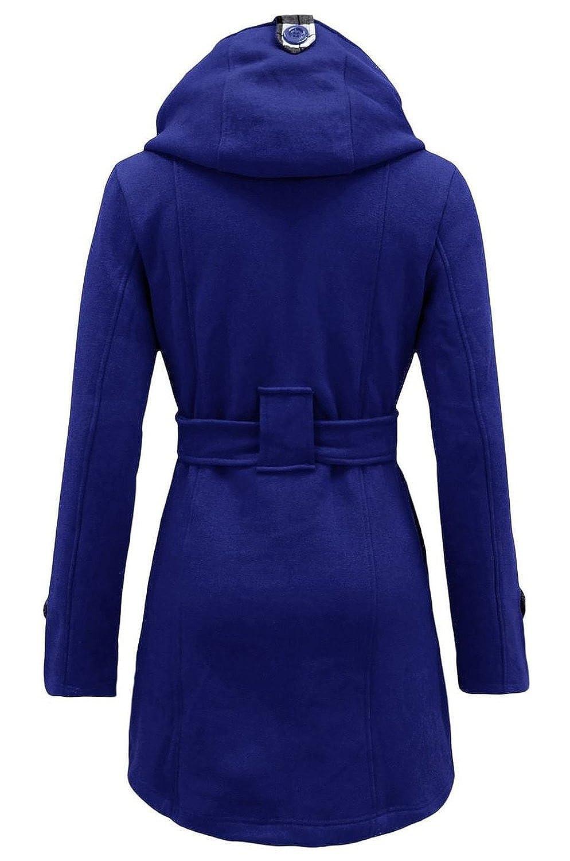3eb9aa02ac0ab Amazon.com: Noroze Womens Check Hood Plus Size Duffle Coat: Clothing