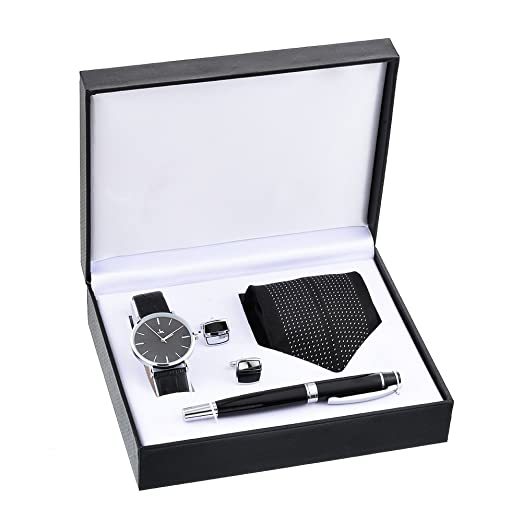 Souarts Ensemble Coffret Cadeau Montre pour Homme (Style 5)  Amazon ... 4411e505245