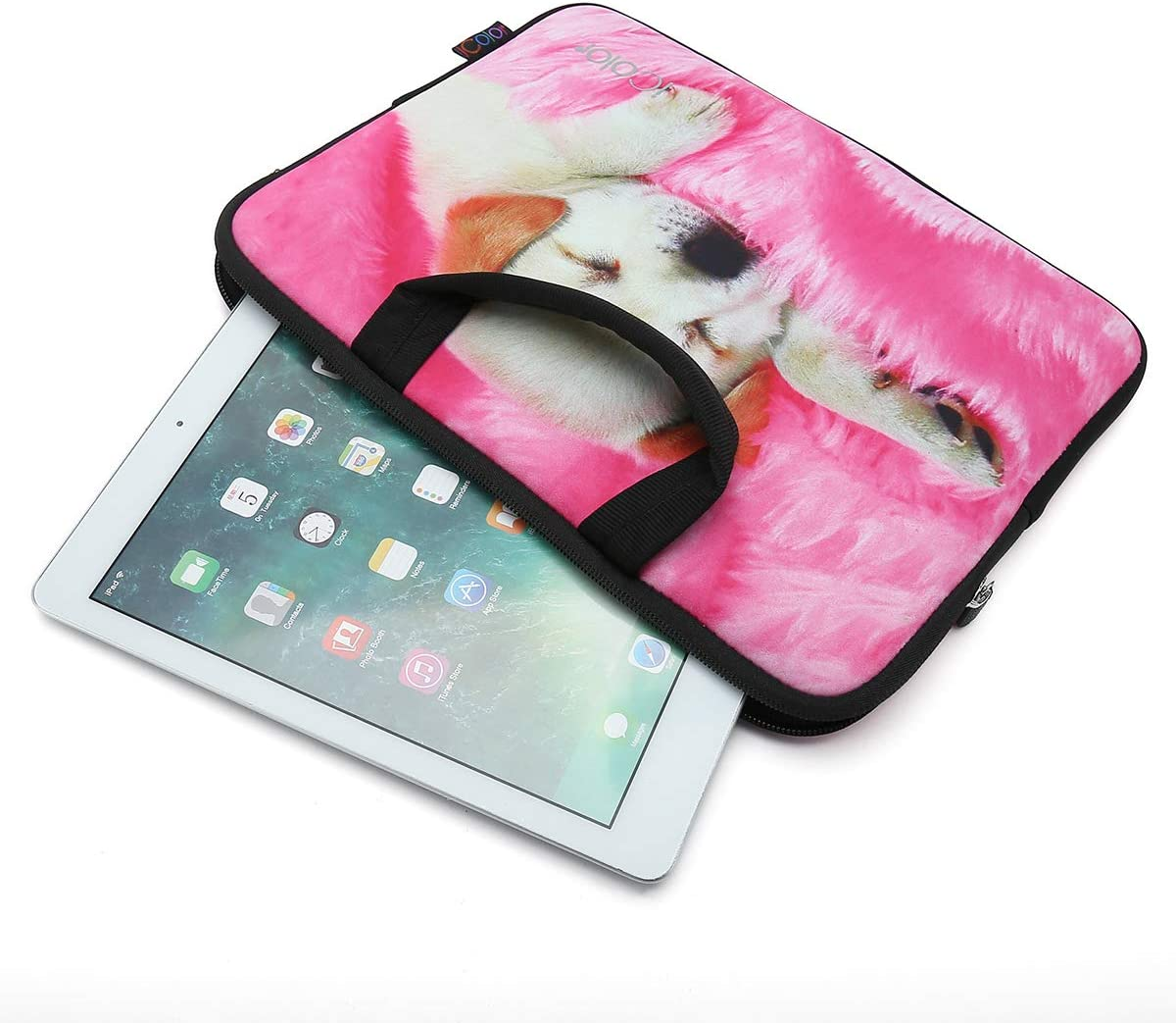 iColor Cute Dog 11.6 12 12.1 12.2 inch Laptop Case Sleeve Protective Bag Briefcase Pouch with Handle IHB12-06