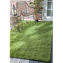 nuLOOM 200MCTU01A-508 Artificial Grass Outdoor Lawn Turf Green Patio Rug (5-Feet X 8-Feet)