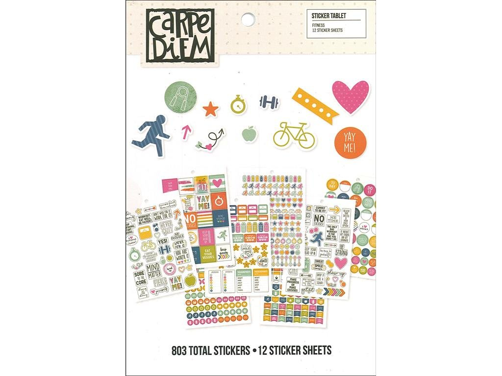 Simple Stories 8902 Fitness Sticker Tablet