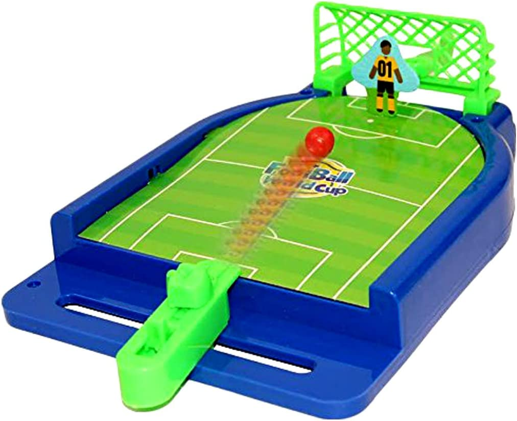 Toy Cubby Mini Football Tabletop Arcade Game - Miniature Desktop Soccer Novelty Game - Power Shot Football Skills Board Game for Ages 5 and Up - Game Room | Birthday Party | BBQ