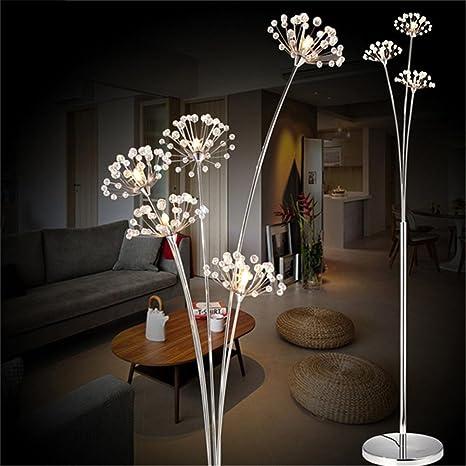 GUOCAIRONG® Lámpara de pie de Cristal Lámpara de pie de ...