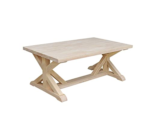 Amazon Com Wood Style Furniture Coffee Table Unfinished Premium
