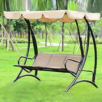 ZDYLM-Y Columpio Balancín Jardín Silla para Columpio con Dosel para Exteriores, para Trabajo Pesado, con Asiento Fuerte, para terrazas al Aire Libre: Amazon.es: Deportes y aire libre