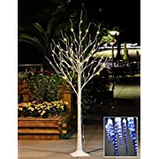 Lightshare 6 Feet Lighted Birch Tree, 72 LED Lights, Decoration for Home, Wedding, Festival, Party, Christmas