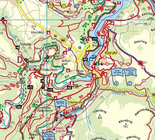 Nationalpark Eifel Karte.Nationalpark Eifel Rad Und Wanderkarte Mit Ausflugszielen Einkehr