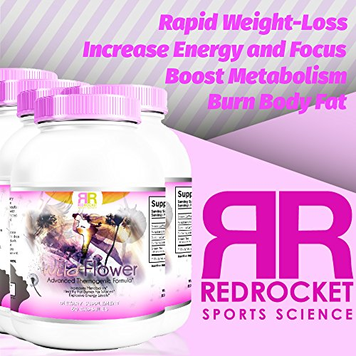 Wild Flower. Fat Burner Pills Increase Metabolism, Lose Weight Rapidly, Thermogenic, Appetite Control, Increase Energy 60 Count Capsule, Non-GMO. For women only. No workout or exercise needed.