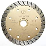 Whirlwind USA LSC 4-inch Dry or Wet Cutting General Purpose Continuous Turbo Power Saw Diamond Blades for Concrete Masonry Brick Stone (Factory Direct Sale) (4'')