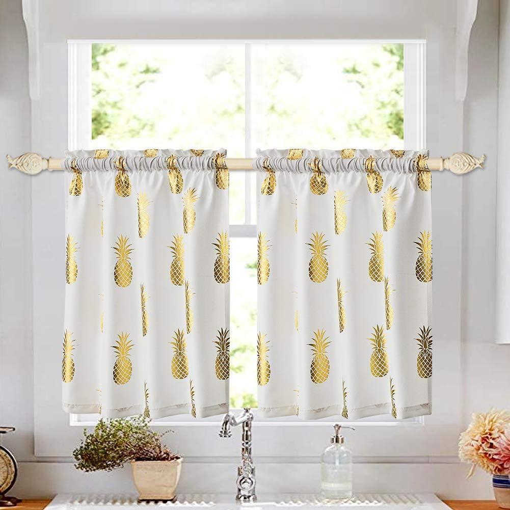oremila Small Tier Curtains for Kitchen Café Windows, 28