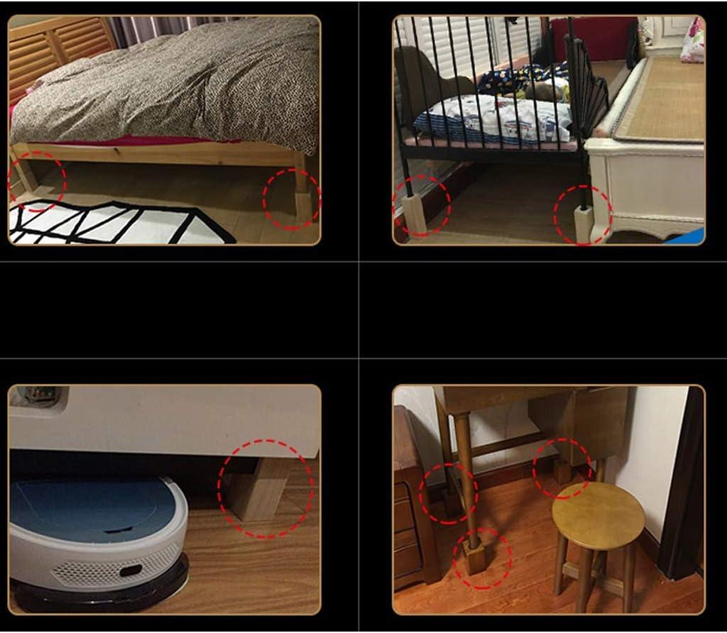 GONGFF Piede rialzato per mobili Gambe per tavoli su Misura Letto Rialzo Gambe in Legno Divano Piedi poggiapiedi poggiapiedi tavolino Blocco Piedi Piede di Supporto