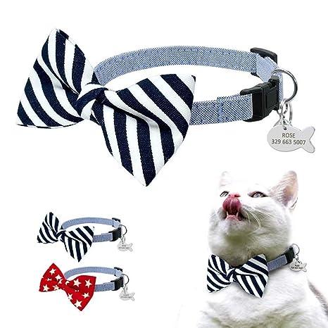 BERRY Breakaway - Collares para Gato con Etiquetas de identificación en Forma de pez, diseño