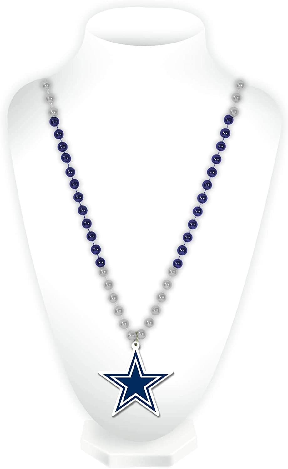 NFL Rico Industries Team Logo Mardi Gras Style Beads, Dallas Cowboys : Sports Fan Necklaces : Sports & Outdoors