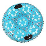 Snow Tube Sled Air Tube Winter Inflatable Round with Big Grab Handles 38 Inch (Christmas)