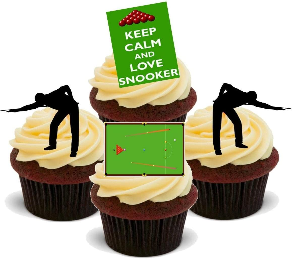 Snooker Mix Stand Up Premium Card Cake Toppers