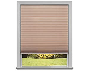 "Easy Lift Trim-at-Home Cordless Pleated Light Filtering Fabric Shade Natural, 30 in x 64 in, (Fits windows 19""- 30"")"
