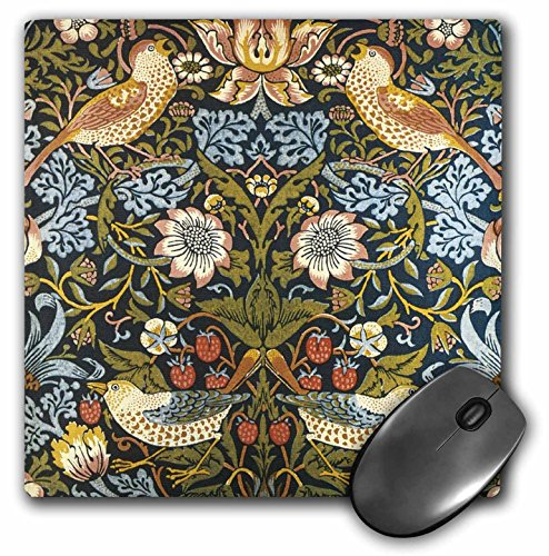William Morris Strawberry Thief Pattern - Mouse Pad, 8 by 8 inches (mp_219390_1)