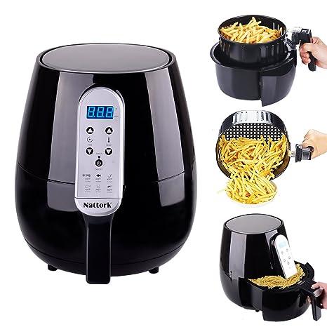 Amazon.com: Freidora de aire caliente de color negro 4,3 l/4 ...