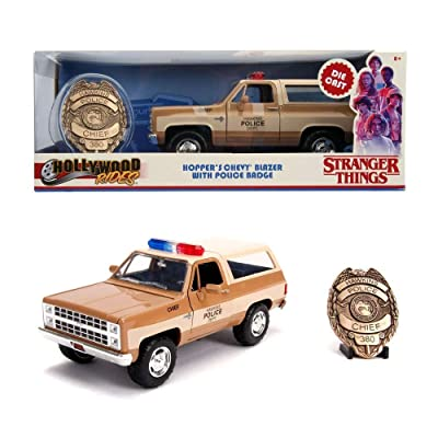 JADA Toys Stranger Things 1980 Die Cast Blazer with Badge Standard: Toys & Games