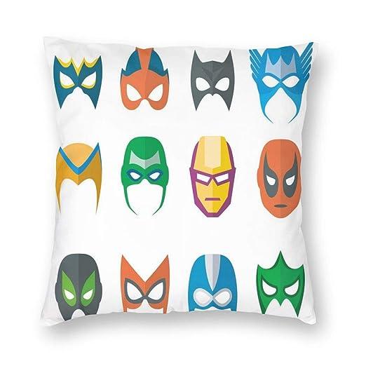K0k2to Funda de cojín de superhéroe, máscara de héroe ...
