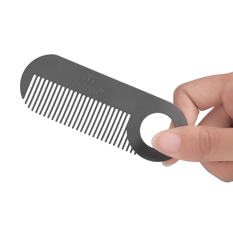 Amazon.com: IKEPOD - Peine de metal para barba de bolsillo ...