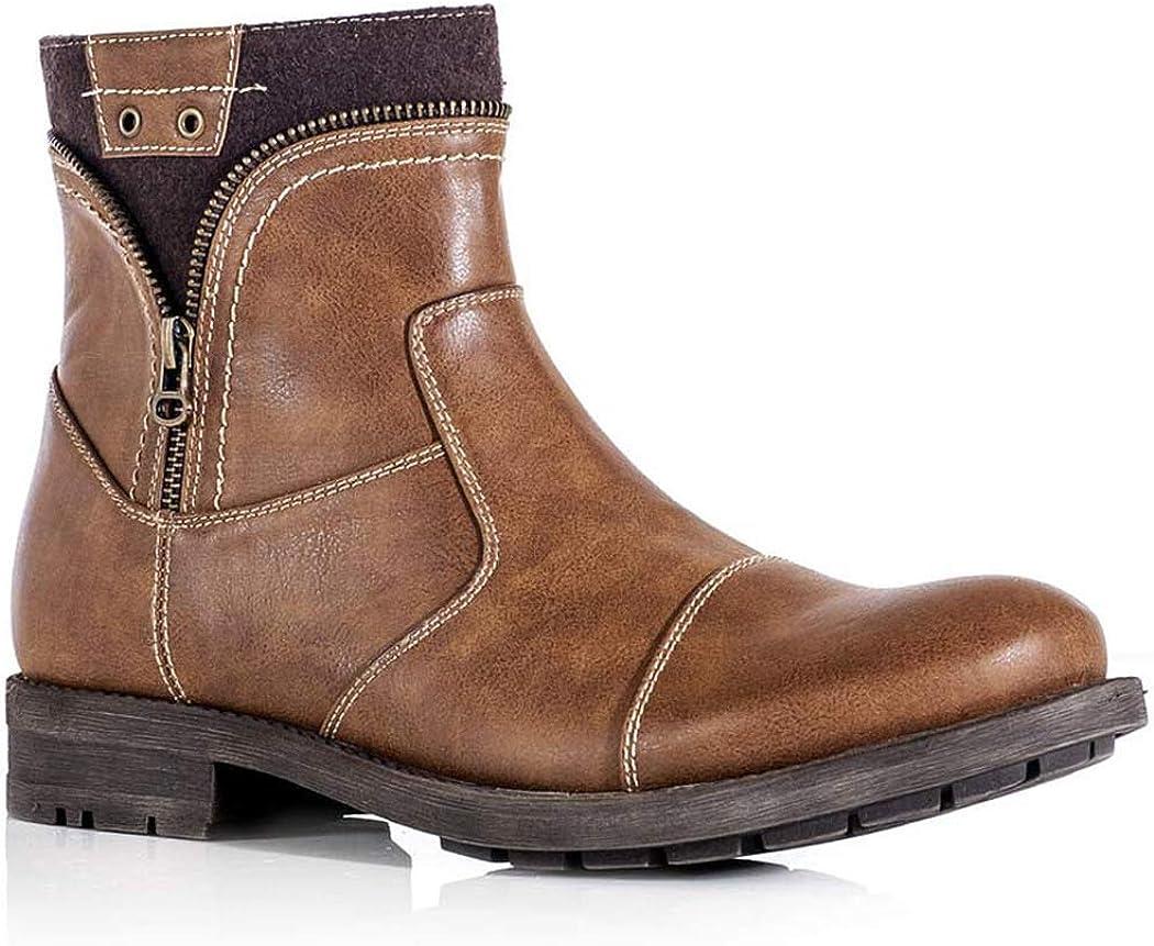 Hombre Cuero Auténtico Botines Chelsea De Vestir Casual Zapatos ...