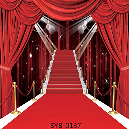 8x8ft Stage Lighting Red Carpet Series Seamless Poly Fabric Photography Backdrop Customized Photo Background Studio Prop SYB-0137 from GoodsFederation