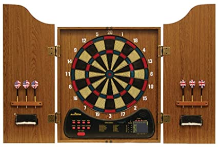 Verus Sports Arachnid Walnut Electronic Dartboard Cabinet