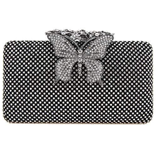 Noir Pour S Uk18161 Femme Bonjanvye Pochette z0wg1zq