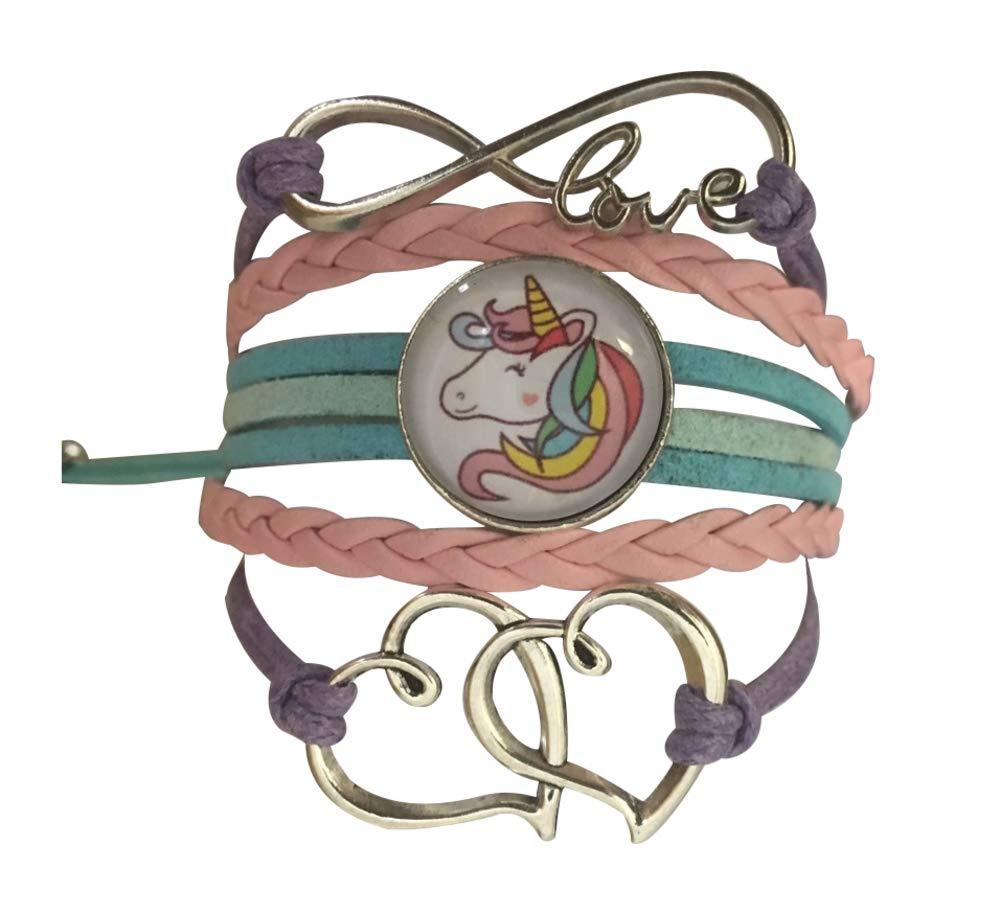 Infinity Collection Girls Unicorn Charm Bracelet, Unicorn Jewelry for Girls