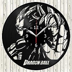 Dragon Ball Z Dragonball Anime Manga Vinyl Record Wall Clock Decor Handmade Unique Original Gift