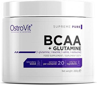 BCAA + GLUTAMINA 200g - PURO SIN SABOR | ESTRUCTURA MUSCULAR | ANABOLIC | ANTICATABOLIC | AMINOÁCIDOS DE CADENA DE RAMA + L-GLUTAMINA | CARROCERÍA | ...