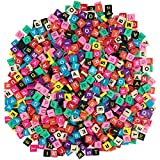 1000 pcs Letter Tiles in a Variety of Colors for Scrapbooking, Arts and Crafts, Home Decor, Picture Frames