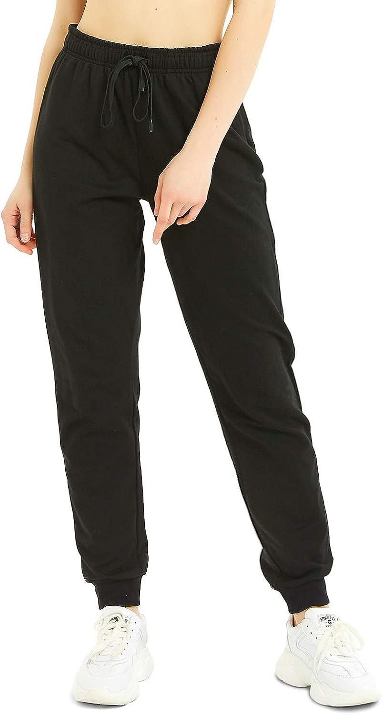 100/% Coton Pantalons de Surv/êtement pour Jogging Running Pantalon de Training Safort 76cm//81cm//86cm Entrejambe Pantalon de Sport Femmes 3 Poches