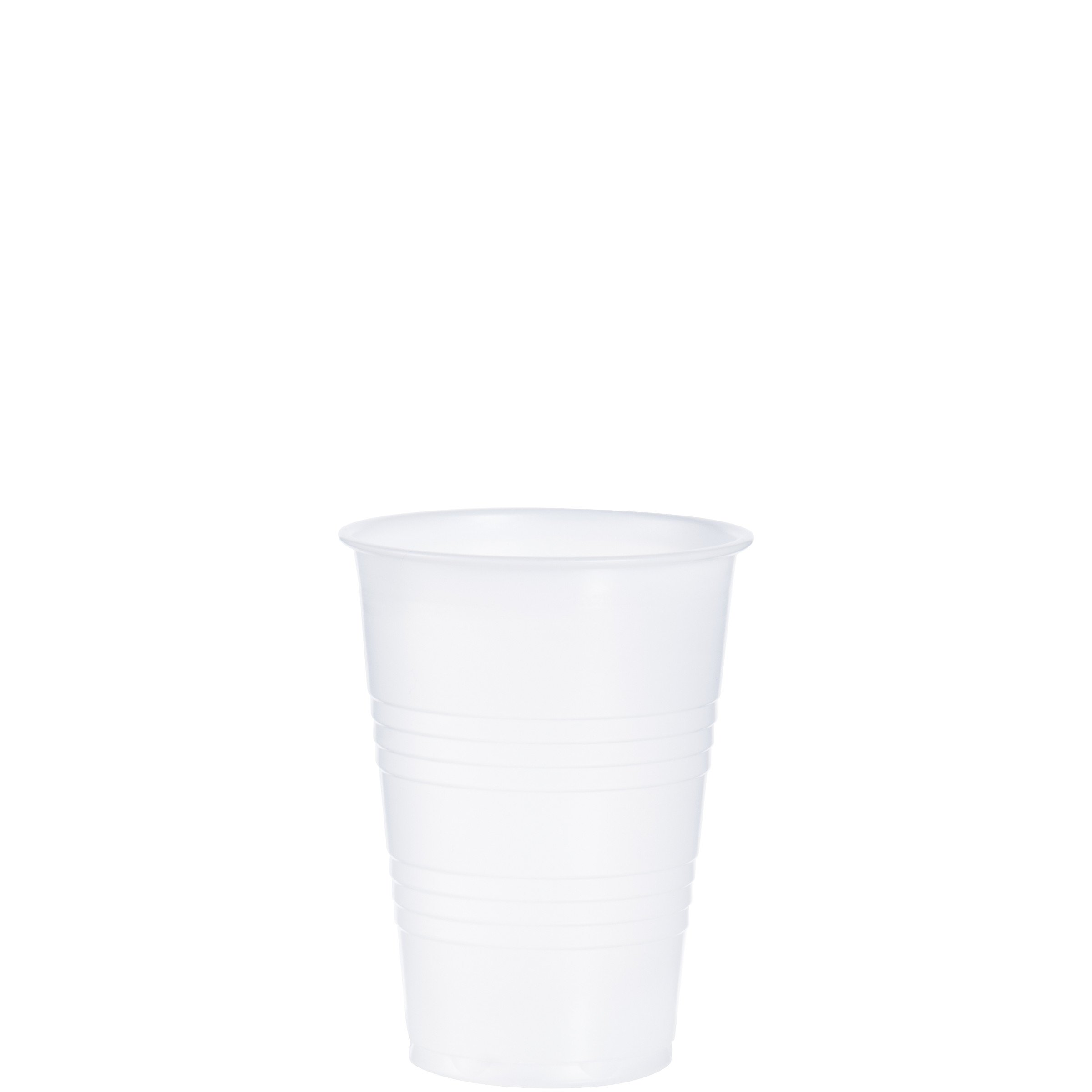 Dart Y10 10 oz Trans Ribbed Wall PS Cup (Case of 2500)
