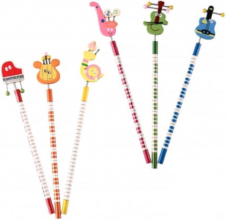 Lote de 30 Lápices De Madera Divertidos - Ideal para regalos de graduaciones, regalos de cumpleaños, detalles comuniones Niños y Niñas. Lapiceros Baratos Infantiles