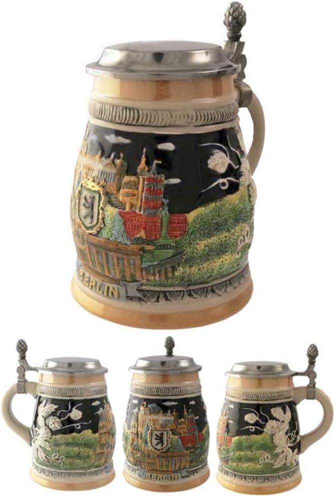 Official Jarra Decorativa de Cerveza Alemana Ceramica Berlin 700 ml