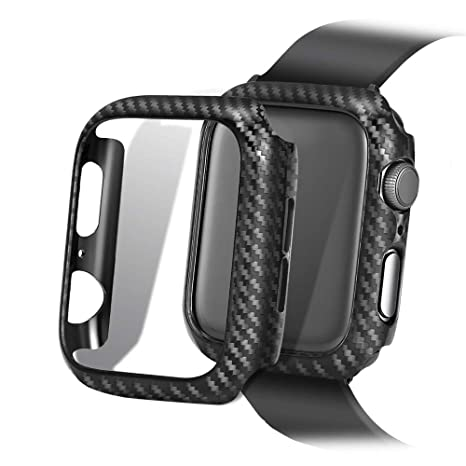 elanox Coque de Protection en Carbone pour Apple Watch 1 2 3 4 42 mm 44