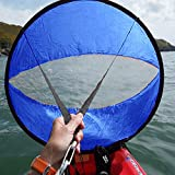 CAMTOA 42'' Outdoor Wind Sail Paddle Kayak Downwind Kit,Kayak Canoe Accessories, - Compact, Portable, Easy Setup & Deploys Quickly
