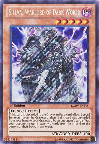 (Yu-Gi-Oh! - Sillva, Warlord of Dark World (LCJW-EN245) - Legendary Collection 4: Joey's World - 1st Edition - Secret Rare )