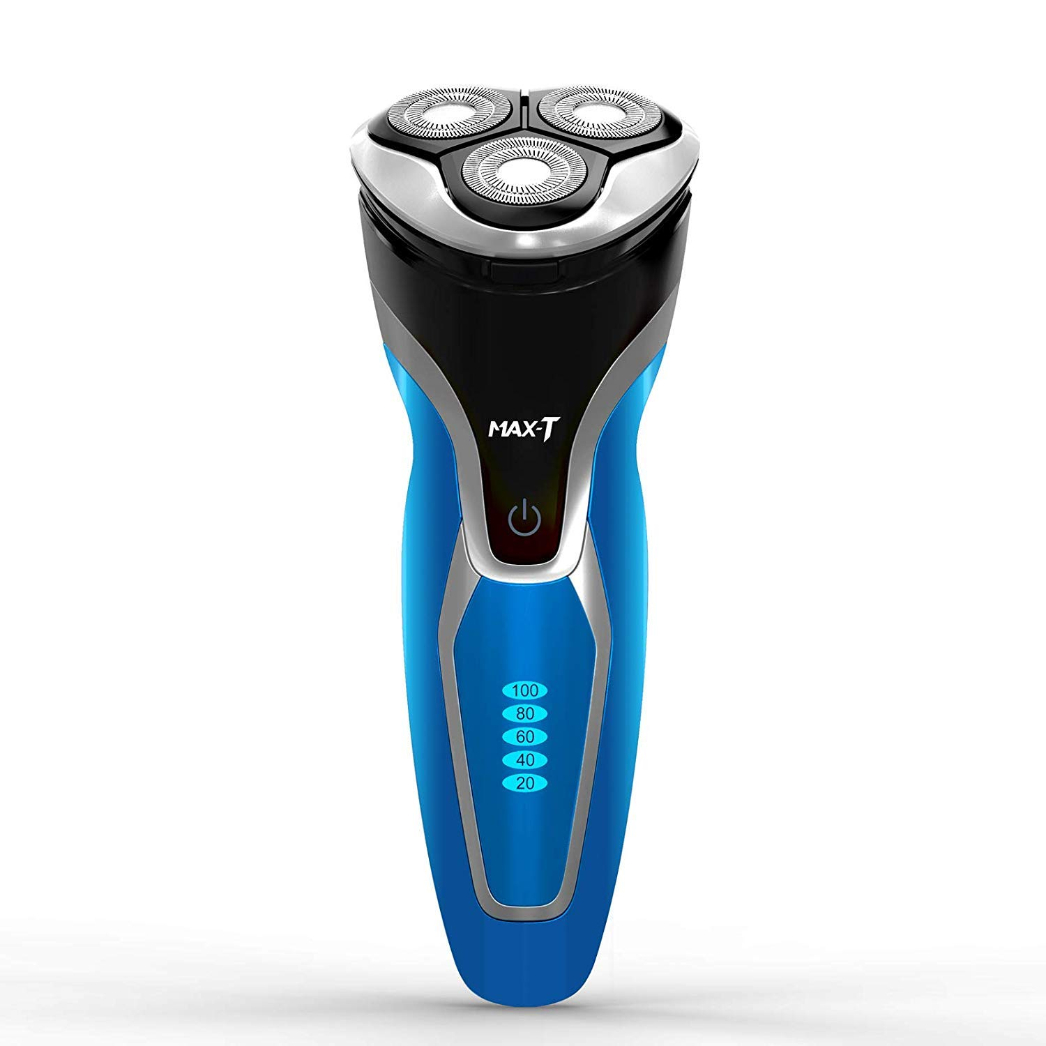 Electric Shaver Razor for Men, MAX-T Quick Charge Wet Dry Rotary Shaver with Pop Up Trimmer, IPX7 100 Waterproof 7109 with Adapter Charger